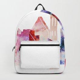 Watercolor Dallas skyline design Backpack