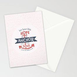 """Anchor for the Soul"" Hand-lettered Bible Verse Stationery Cards"