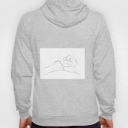 dad son pinky promise Hoody