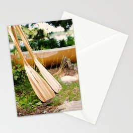 Canoe Paddles Boundary Waters Stationery Cards