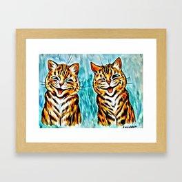 "Louis Wain's Cats ""Winking Cats"" Framed Art Print"
