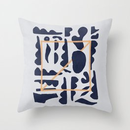 Shapes and a square significant artwork Throw Pillow