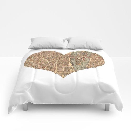 heart map 4 Comforters