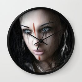 Edge of Her World Wall Clock