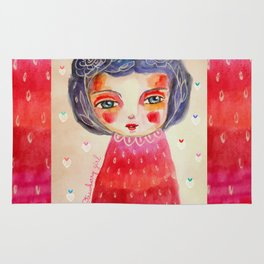 Strawberry girl Rug