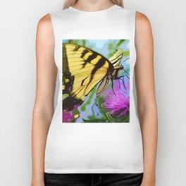 Yellow butterfly beauty 2 Biker Tank