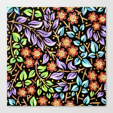 Filigree Flora Canvas Print