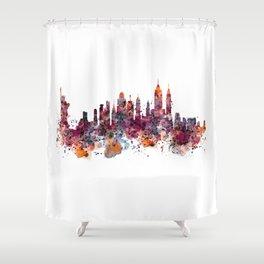 New York Skyline Silhouette Shower Curtain