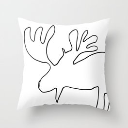 Line Moose Throw Pillow