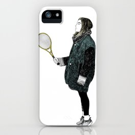 Tennis Girl iPhone Case