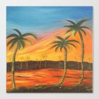 desert Canvas Prints featuring Desert by ArtSchool