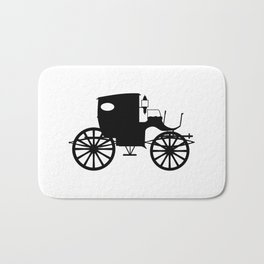 Old Carriage Silhouette Bath Mat