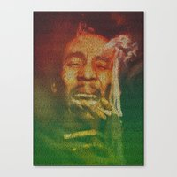 marley Canvas Prints featuring Marley by Robotic Ewe