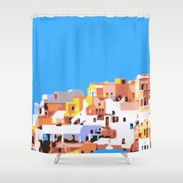 Oia, Santorini Shower Curtain
