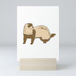 ASMR Ferret Whisperer print I Funny Animals Gift Mini Art Print