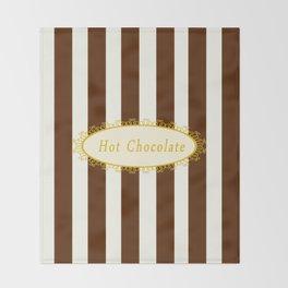 Hot Chocolate Antique Throw Blanket