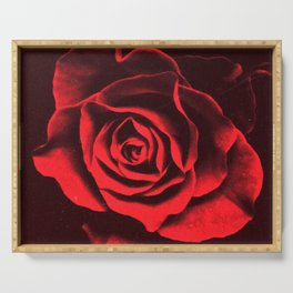 Red as Roses Serving Tray