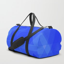 Gentle dark blue triangles in the intersection and overlay. Duffle Bag