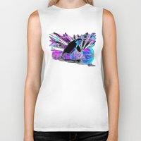 orca Biker Tanks featuring Orca by JT Digital Art