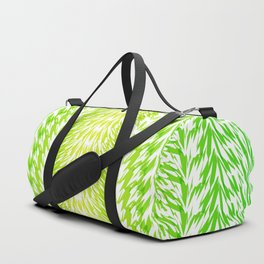 Texture of grass. Imitation of grass from strips for fabric or decor. Duffle Bag