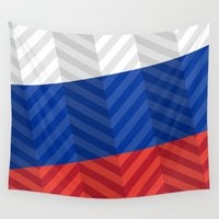 russian Wall Tapestries featuring Russian Flag by m. arief (mochawalk)