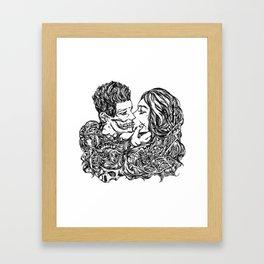 Love me like there's no tomorrow Framed Art Print