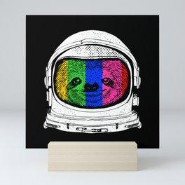 Astronaut Sloth Mini Art Print