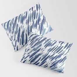 Boho Blue Brushstroke Pillow Sham