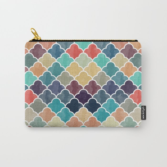 Watercolor Lovely Pattern VVXI Carry-All Pouch