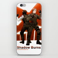 stucky iPhone & iPod Skins featuring shadow burns by Hill