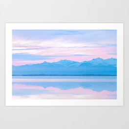 Pastel and silent Mountain Range in Iceland – Landscape Photography Art Print