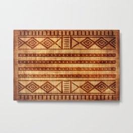 Embossed African Pattern Metal Print