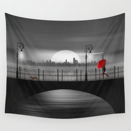 The bridge in the summer rain Wall Tapestry