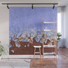Rust and Blue Wall Mural
