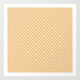 Check I - Yellow Art Print
