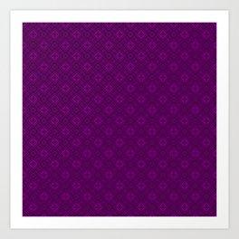 Geometric pattern 23 purple ,fashionable ornament Art Print