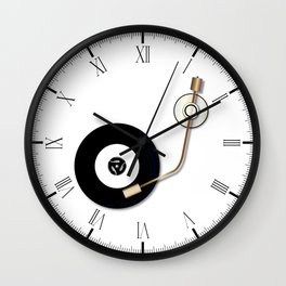 Record And Arm Wall Clock