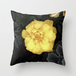 The Soft Yellow Flower (Vintage) Throw Pillow