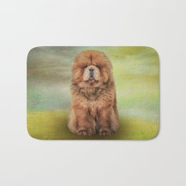 Drawing dog chow chow Bath Mat