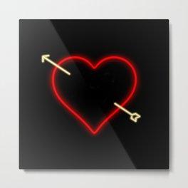 Neon Heart Metal Print