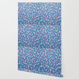 Spring Blues Abstract Art Wallpaper
