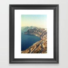 The insane roads of Santorini Framed Art Print
