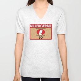 Killer Gerbil Red Tubing Unisex V-Neck