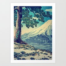 After the Snows in Sekihara Art Print