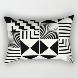 Mosaic Black And White Pattern Rectangular Pillow