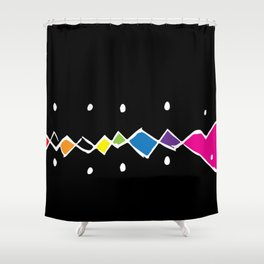 Rainbow Argyle Funk Shower Curtain
