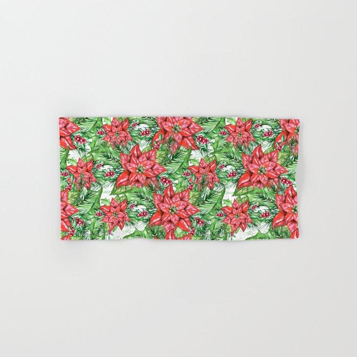 Poinsettia Hand & Bath Towel