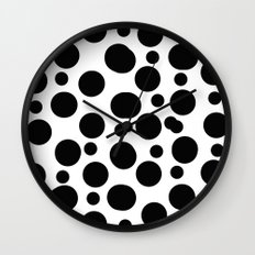 Black spots Wall Clock