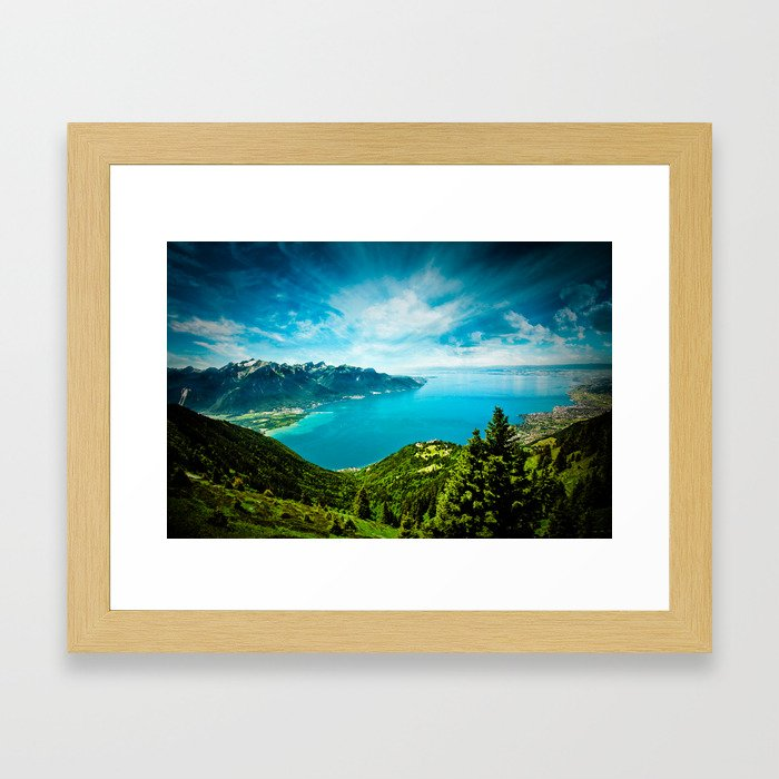 Lake Geneva Framed Art Print