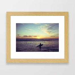 One Last Wave Framed Art Print